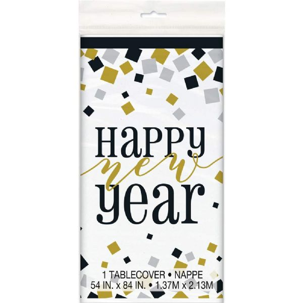 2021 Happy New Year Plastic Tablecover